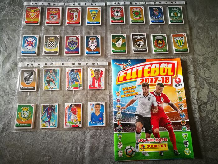 Panini - Futebol 2017/18 - Empty album + Complete set of 395 + 3 bis stickers
