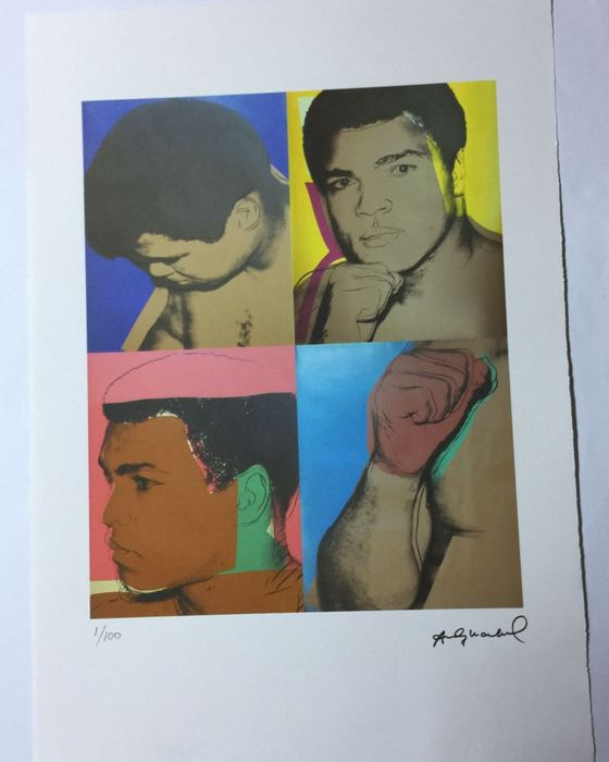 Andy Warhol - Lithographie Georges Israel Editeur - Muhammad Ali