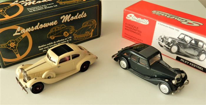 Lansdowne / Somerville - Scale 1/43 - 1935 Triumph Vitesse Flow-Free and 1937 Riley Kestrel