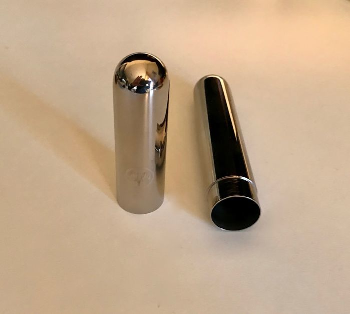 Ronson gas lighter, gold plated and in stainless steel, vintage