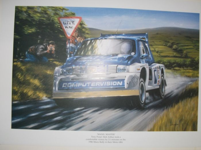 Manx Master  Tony Pond/Rob Arthur Manx 1986 Rally Metro 6R4 Print by Keith Davies