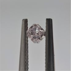 0.16ct Natural Radiant Cut Diamond Light Pink