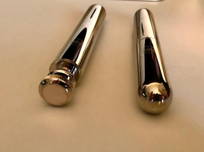 Ronson gas lighter, gold plated and in stainless steel