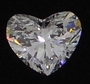 HRD certified, HEART, 0.90 ct, E, SI1 cut diamond