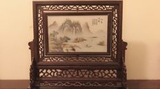 Contemporary porcelain plaque - China - 21st century