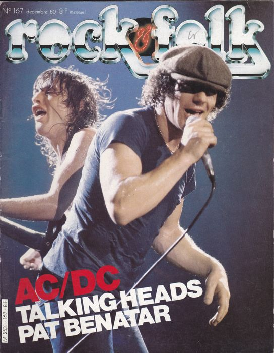 28 Music magazines with AC/DC and Status Quo on fr.cvr + art.+pict. and posters ins.All vg to nm cond.