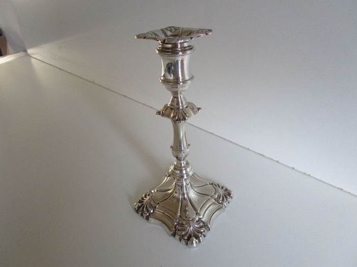 Victorian Silver Plated Candlestick, England, ca 1890