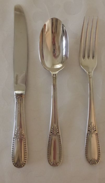 73 Piece silver plated cutlery, Gero Impérial, Zeist, ca. 1975