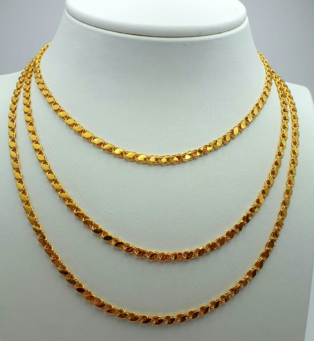 22 Ct Gold Harem Chain, Length 130cm , Total Weight:20.75g