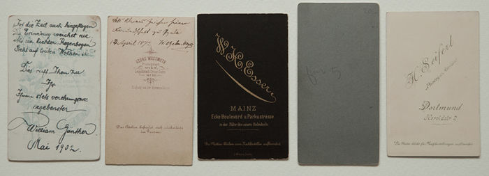 31 CDVs Carte De Visite Mainly From Germany But Also Europe