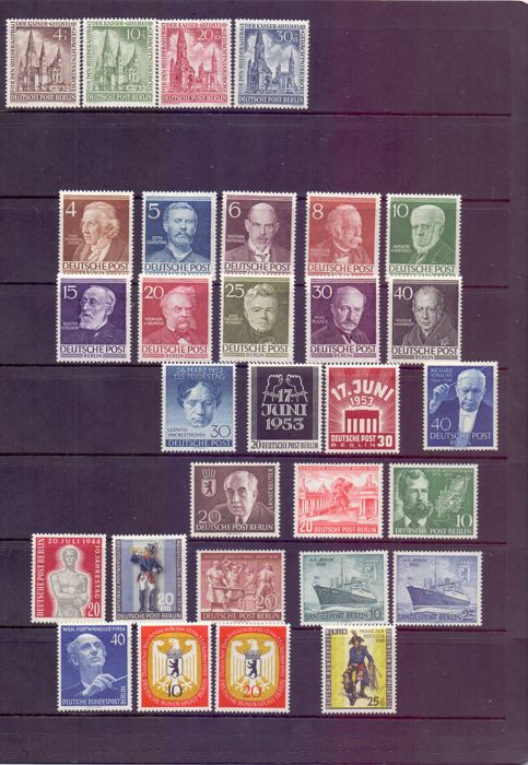 BDR West Berlin 1951/1956 Collection of early stamps