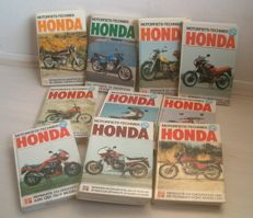 Honda - various maintenance books (10) - 1976/1992