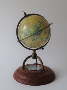 S. Emery Salem (and Gerard Mercator) - globe with compass - late 20th century