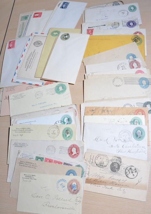 Usa Stack Of Classic Mail Items Cards Covers Mixed Fees With