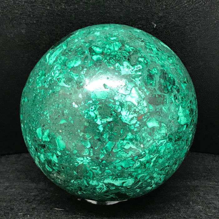 Very fine Malachite Sphere from Congo - 10 cm - 1700 gm