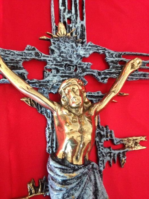 Vintage Christ by Dali in bronze