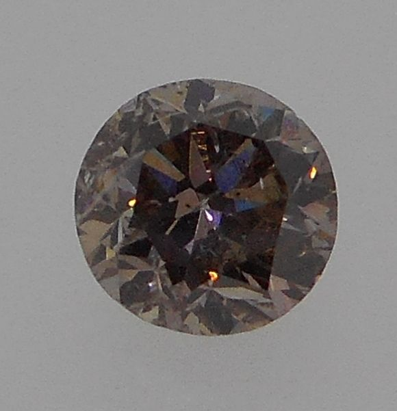 GIA CERTIED, 1.04 CT, NATURAL, FANCY PINK-BROWN, EVEN