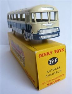 Dinky Toys-France - Scale 1/66 - Autocar Chausson No.29f Blue