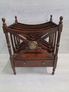 "Mahogany Canterbury decorated with ""Union Jack"", England, second half of 20th century"