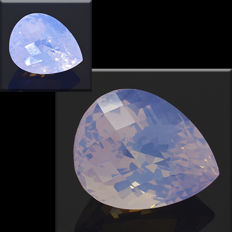 Lavender amethyst with 'opal effect' - 28.19 ct