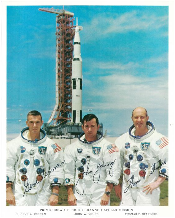Apollo 10 crewsigned NASA Litho