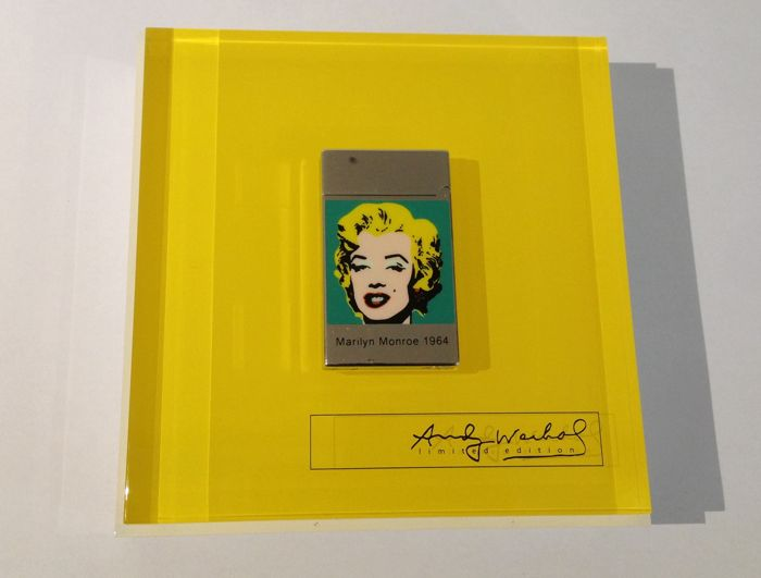 26ed5fcdd8fd Limited edition 1964 Andy Warhol Marilyn Monroe lighter S.T. Dupont- Paris