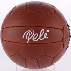 Pele Signed 1958 World Cup Replica Final Soccer Ball