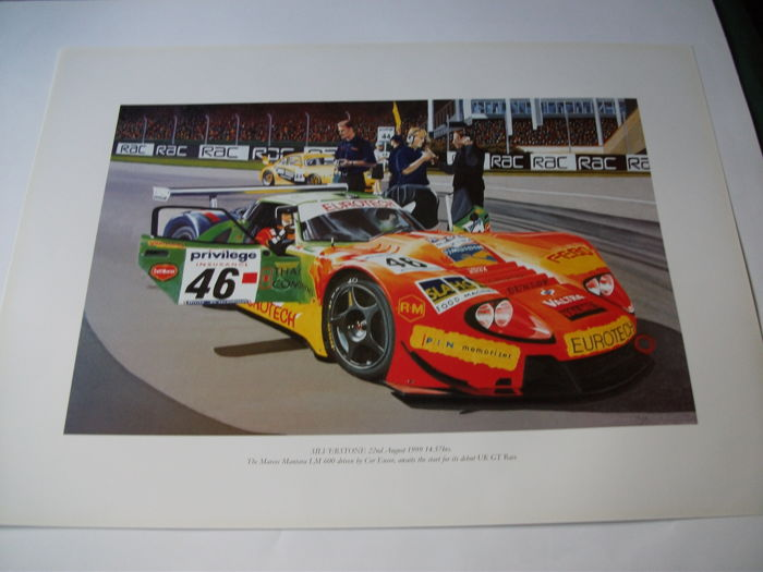 Silverstone August 1999 Marcos Mantara LM 600 driven by Cor Euser print