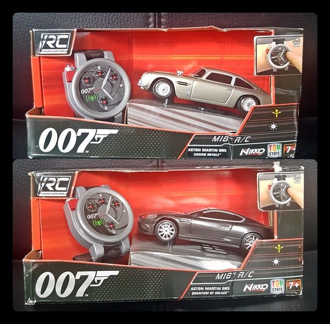 2 James Bond 50th Anniversary R/C Cars Aston Martin DBS & DB5 MIB