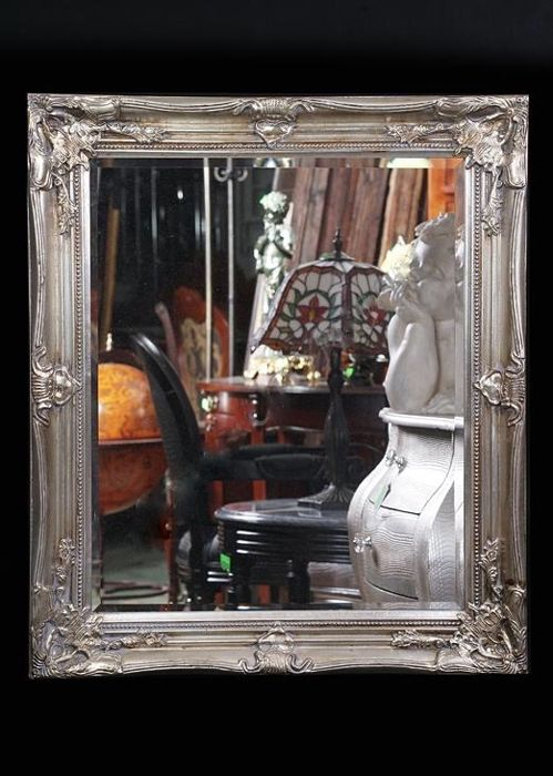 Beautiful mirror in a wooden, Italian style frame - 74 x 64 cm Poland