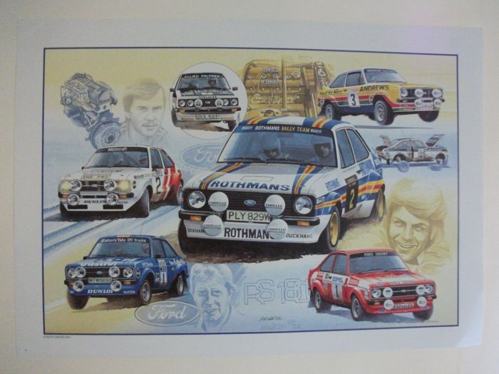 Ford RS 1800 Limited Edition Print by Keith Davies