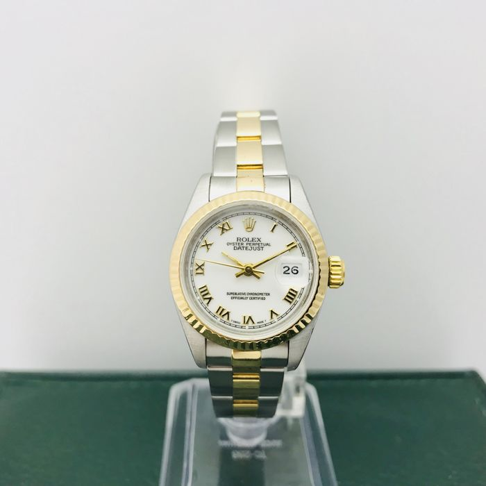 e3615a370daf7 Rolex - Oyster Perpetual Datejust - 69173 - Mujer - 1994 - Catawiki