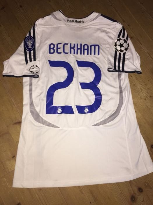 big sale 4dddb 4efd3 David Beckham Real Madrid Champions League shirt 06/07 ...