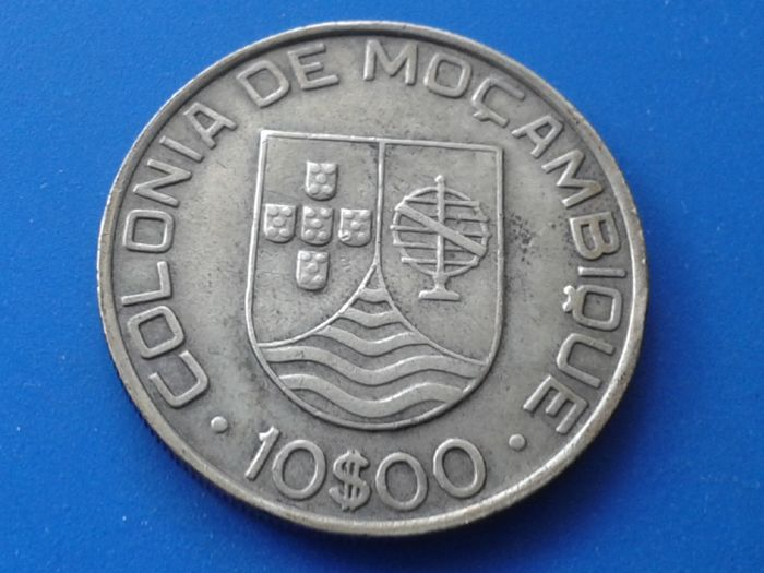 Mozambique - Portugal Republic - 10 Escudos - 1936 - Silver
