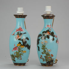 Bronze / copper cloisonne vases - Japan - 19th century (Meiji dynasty)