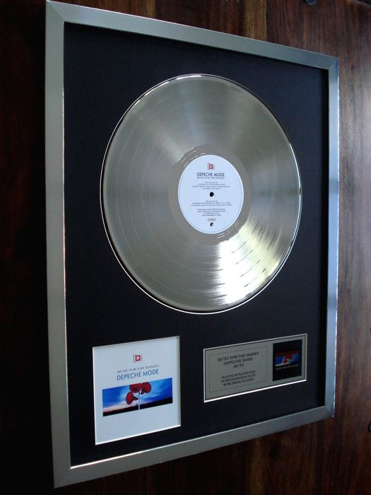 Depeche Mode Music For The Masses Platinum Plated Disc Record LP Album Award