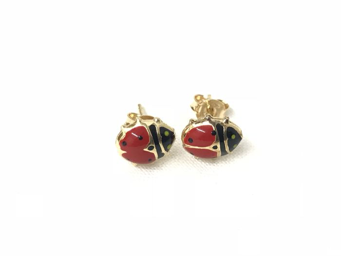 Ladybird earrings in 18 kt gold - perfect