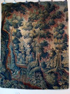 A large Verdure tapestry fragment - Flanders - ca. 1700