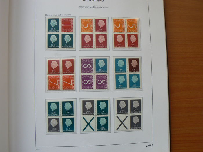 The Netherlands 1964/1998 - Collection of combinations from stamp booklets in a DAVO LX album