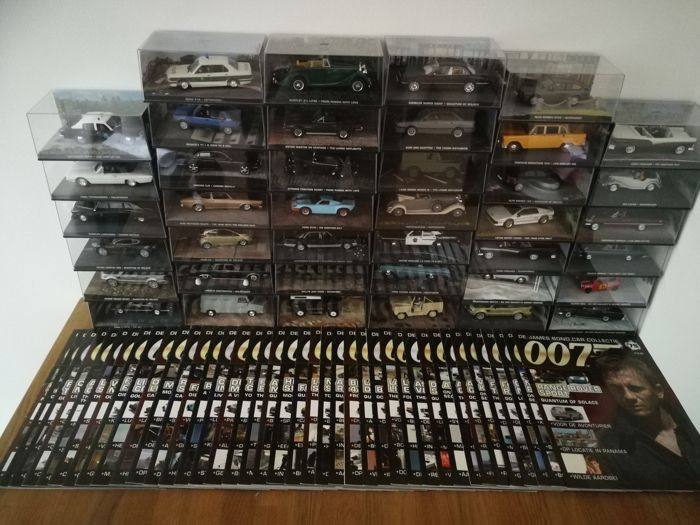 Fabbri James Bond - Scale 1/43 - 40 pieces James Bond Collection number 40 to 79 with matching magazines