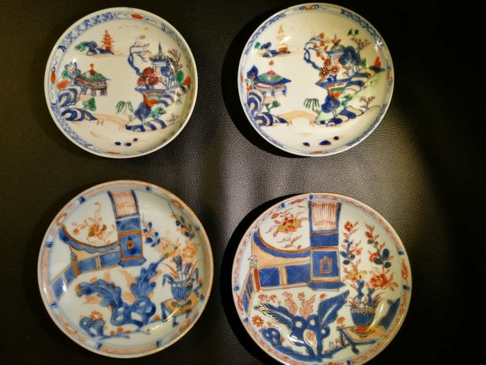 A group of pastel dishes - China - mid 18th century
