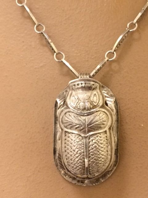 800 silver scarab pendant on necklace egypt 65 cm catawiki 800 silver scarab pendant on necklace egypt 65 cm aloadofball Gallery