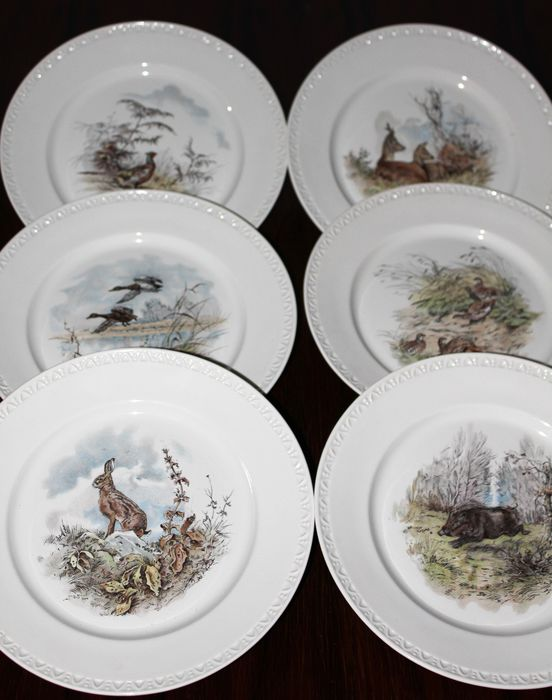 Charmant Villeroy Boch, Fontainebleau 6 Plates Of Game Tableware Animals