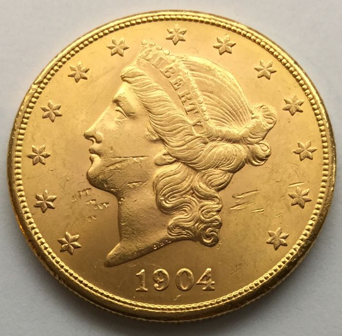 United States - 20 Dollars 1904 S (San Francisco) 'Liberty Head' - Gold