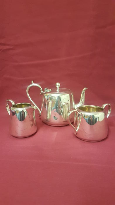 Antique English Silver Plated Hotel Tea Set Three Piece