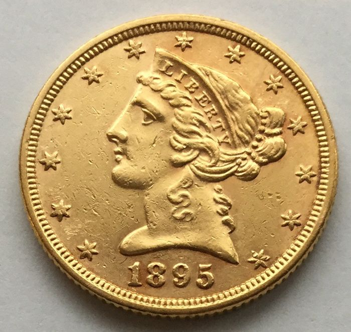 USA:  5 Dollars 1895  'Liberty Head' - Gold