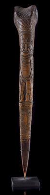 Old, authentic BONE DAGGER of the Wosera, Abelam tribe, East Sepik, Papua New Guinea