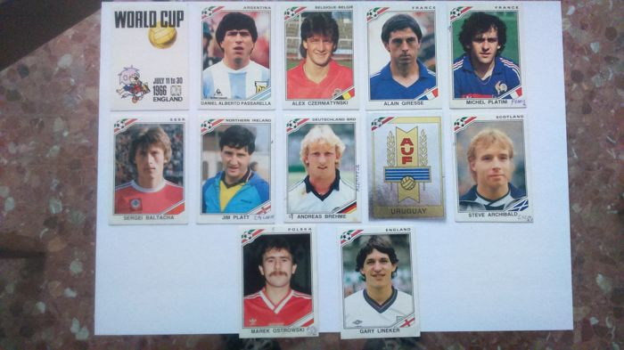 Panini - Worldcup Mexico 86 - 12 stickers never glued.