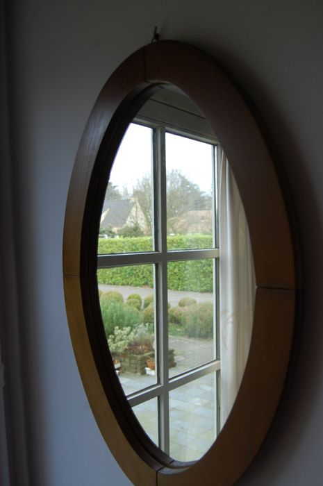 Large Oval Mirror In Wooden Frame Catawiki