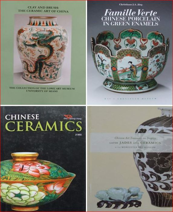 4 Books on Chinese Ceramics / Porcelain - China - 21st centry